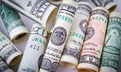 A lot of money on floor